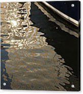 Silky Swirls And Zigzags - A Waterfront Abstract Acrylic Print