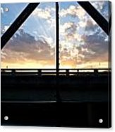 Sillhouette Iron And Concreted Bridges At Sunset In Pai Thailand Acrylic Print