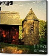 Silo Red Barn Acrylic Print