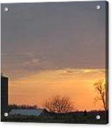 Silos Barn Sunset Acrylic Print