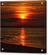 Silouhette In Sunset  Acrylic Print