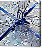 Silver And Blue Wrapped Gift Art Prints Acrylic Print
