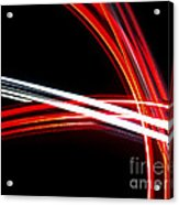 Silver And Red Acrylic Print