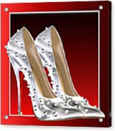 Silver And Red High Heels Acrylic Print