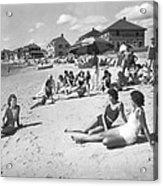 Silver Beach On Cape Cod Acrylic Print