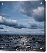 Silver Blue Moon Acrylic Print