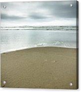 Silver Blue Sea Acrylic Print