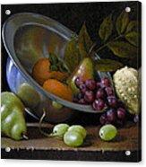 Silver Bowl Acrylic Print by Timothy Jones