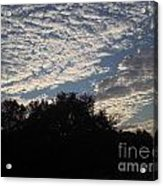 Silver Clouds Acrylic Print