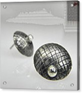 Silver Earrings Acrylic Print