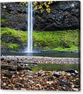 Silver Falls In Fall Acrylic Print