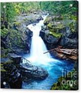Silver Falls  Acrylic Print
