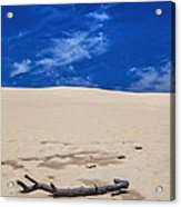 Silver Lake Dune With Dead Tree Branch And Cirrus Clouds Acrylic Print