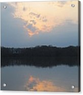 Silver Lake Golden Skies Acrylic Print by Jaime Neo