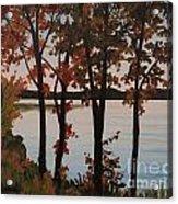 Silver Lake Through Autumn Trees Acrylic Print