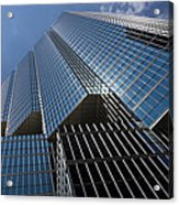 Silver Lines To The Sky - Downtown Toronto Skyscraper Acrylic Print