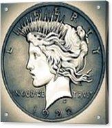 1922 Silver Proof Peace Dollar Acrylic Print