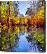 Silver River Colors Acrylic Print by Christine Till