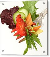 Silver Salad Fork Acrylic Print