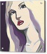 Silver Screen Glamour Girl. Acrylic Print