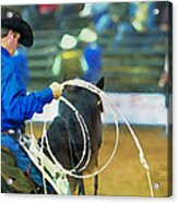 Silver Spurs Rodeo Outrider Acrylic Print