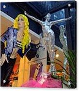 Silver Statue Acrylic Print