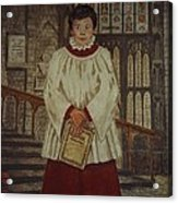 Simon - Winchester Cathedral Choral Scholar Acrylic Print
