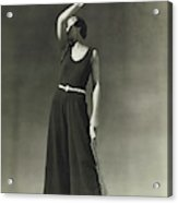 Simone Demaria In A One-piece Pajama Acrylic Print