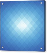 Simple Blue Pixels Background Acrylic Print