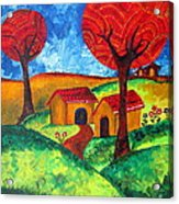 Simple Dreams Acrylic Painting Acrylic Print