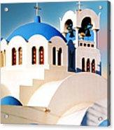 Simple Graphic Greek Church Acrylic Print