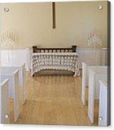 Simple Sunlit Chapel Acrylic Print