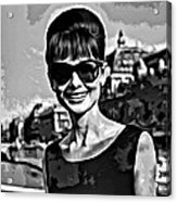 Simply Audrey Acrylic Print