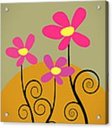 Simply Flowers Acrylic Print