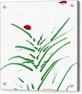 Simply Ladybugs And Grass Acrylic Print