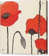Simply Poppies 2. Acrylic Print