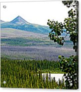 Simpson Peak At Swan Lake-yt Acrylic Print