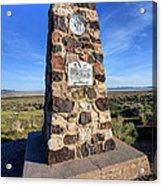 Simpson Springs Pony Express Station Monument - Utah Acrylic Print