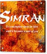Simran Acrylic Print