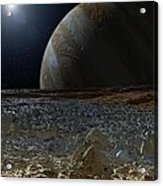 Simulated View From Europas Surface Acrylic Print