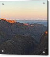Sinai View From St. Catherine Montain On Sunrise Acrylic Print