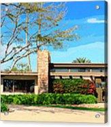 Sinatra Home Palm Springs Acrylic Print by William Dey