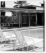 Sinatra Pool Bw Palm Springs Acrylic Print