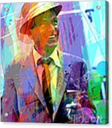 Sinatra Swings Acrylic Print by David Lloyd Glover
