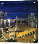 Singapore Central Business District Skyline At Dusk Acrylic Print