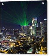 Singapore Central Business District Skyline Acrylic Print