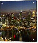 Singapore City Skyline At Dusk Acrylic Print