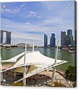 Singapore City Skyline From The Esplanade Acrylic Print