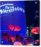 Singapore Drum Set 02 Acrylic Print by Rick Piper Photography