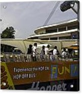 Singapore Flyer Along With The Sight-seeing Bus That Takes Tourists Around The City Acrylic Print